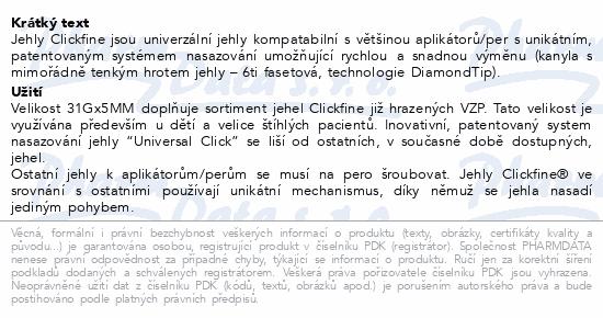mylife Clickfine univer.inzul.jehly 31Gx5mm 100ks
