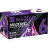 Wellion MEDFINE jehly inz.pera 0.25x6mm 31G 100ks